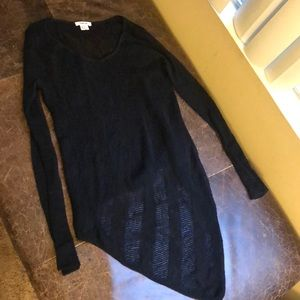 Helmut Lang wool-blend open knit sweater
